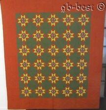Pennsylvania! c 1870s Touching Stars Antique Quilt Crisp Nice QUALITY