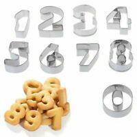 Formine Stampini Biscotti 9 Numeri Stampi Dolci Torte Chef Cucina Forma Forme
