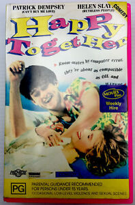Happy Together Patrick Dempsey VHS Video Cassette Tape Pink Big Box PAL PG