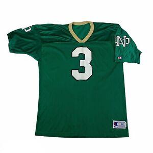 Vintage Joe Montana Notre Dame Fighting Irish Champion Jersey Green 90's Size 52