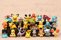 24 pcs Pokemon GO High Quality Pikachu Figures Set Cake Toppers Party Toys Gift