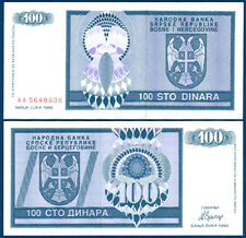 Bosnia h./bosnia H. 100 dinara 1992 UNC p.135