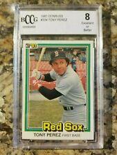 1981 Donruss Baseball Card #334 Tony Perez Boston Red Sox BCCG 8 - 107