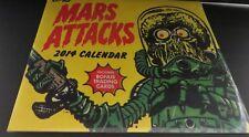 TOPPS MARS ATTACK 2014 calendar Includes Bonus Trading Cards Brand New/Sealed