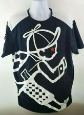 Play Cloths Classic Logo Tee Black T-Shirt XL Huge Running Boy Vintage BAPE TNF