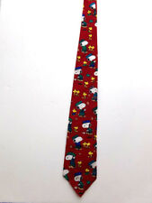 NWT Vintage Peanuts SNOOPY & WOODSTOCK As GOLFER & CADDY Neck TIE 100% Silk USA