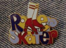 Roller Skater Pin ~  Skates ~ 80's vintage cloisonne