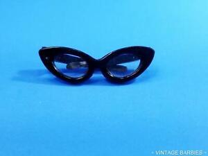 Barbie Doll Black Cat Eye Glasses Near Mint ~ Vintage 1960's