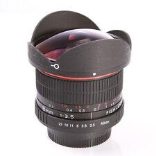 8mm f/3.5 Fisheye Lens Super Wide Angle f Nikon D7100 D7200 D800 D7000 D5300 SLR