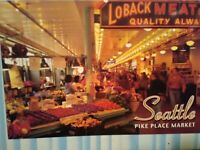 new post card  AERIAL VIEW SEATTLE PIKE PLACE MARKET  SEATTLE  WASHINGTON