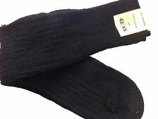 Wool Socks 3x Pairs NEW Military Surplus Black French Wool Blend Warm Size 42/43