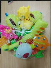 10 pcs Animals Kids Fishing Toys Soft Float Sqeeze Sound Wash Play Bath Baby
