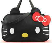 Hello Kitty Handbag Travel Shoulder Bag Black Travel Duffel Bag waterproof