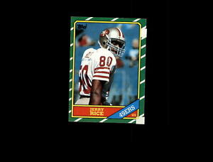 1986 TOPPS 161 JERRY RICE RC EX #A2417