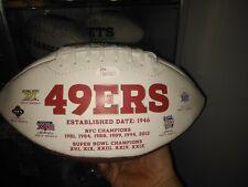 San Francisco 49ers ANQUAN BOLDIN AUTOGRAPHED FOOTBALL Auto SUPERBOWL Logos JSA