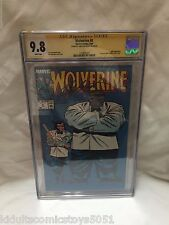 Wolverine #8 CGC 9.8 Gray Hulk & Wolverine Signed by Chris Claremont 1989 Marvel