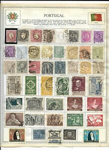 Portugal 8 Pages Unpicked Stamps