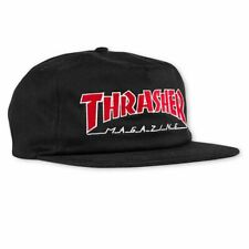 ab9585e8cf7d8a Thrasher Magazine Outlined Logo Snapback Skateboard Hat Cap Black Red New