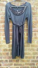 Noa Noa black jersey  modal  wool  sequinned  dress small 10 BNWT RRP  £89