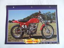 CARTE FICHE MOTO RICKMAN METISSE MK III 1962