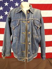 Cheryl Tiegs Jacket Coat Distressed Blue Jean Women's Size Small