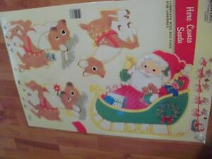 Here comes Santa Wall Decoration Vintage Eureka New