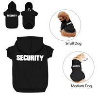 French Bulldog Winter Dog Clothes SECURITY Warm Hoodie Jacket Coat Small Large