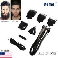 km-1407 Men Hair Trimmer Rechargeable Beard Clipper Shaver Electric Haircut HG31