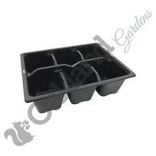 10 x confezioni Trolley 3 Cella INSERTI IN PLASTICA VASSOI VASSOIO semi seme vendita Pack