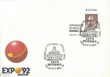 Sobre Entero Postal Edifil # 6 (o) Rumbo al 92 Sevilla EXPO INFORMA