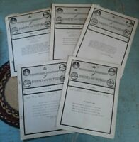 Lot 5 Antique 1927 Pennsylvania Dept of Forests and Water Service Letter Booklet