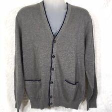 John Bartlett Consensus Gray Sweater Six Button Cardigan Long Sleeve Men's XL