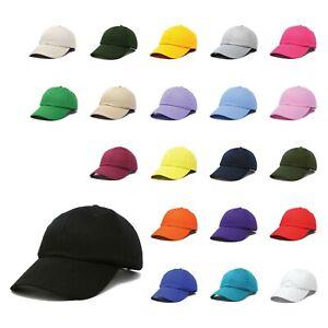 DALIX Baseball Cap Dad Hat Plain Men Women Cotton Adjustable Blank Unstructured