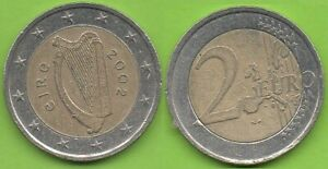 Irlande; 2€, 2002, pièce ayant circulé