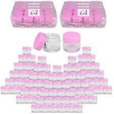 BeauticomÂ 00004000 ® (1440 Pcs) 7G/7Ml Clear Plastic Refillable Jars with Pink Lids