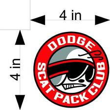 DODGE SCAT PACK CLUB car & truck vehicle decals/stickers