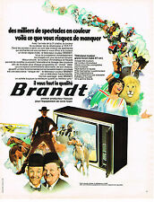 PUBLICITE ADVERTISING 045  1973  BRANDT  téléviseur couleur