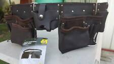 NEW Tan Leather nail Double Pouch TRADE QUALITY TOOL BELT 14 POCKET BAG