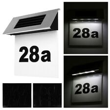 Solar LED Licht Hausnummer Beleuchtung Hausnummernleuchte Beleuchtet Edelstahl