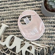 Givenchy baby pink LOVE star slogan bib soft cotton new born 0-6 Months designer