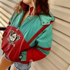Vintage Retro Youth/Women's NHL Hockey Anaheim Mighty Ducks Jacket Coat Pullover