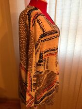 NWT $148 Nic+Zoe top/light sweater long sleeves scoop neck Multi-Color size 3X.