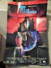 PIT & THE PENDULUM (VIDEO DEALER FULL-SIZE 40 X 27  POSTER!, 1991) L HENRIKSEN