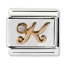 GENUINE Nomination Classic Letter K Rose Gold Steel Charm 430310/11 / £29 RRP