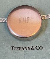 """Tiffany Co. 1 1/2"""" Round Sterling Silver .925 Tape Measure """"Broken"""" Not Working"""