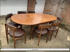 More details for gplan ( ib kofod larsen ) dining table and 8 chairs