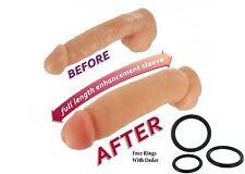 Realistic Thicker Girth Enhancer Enlarger Penis-Extender Sleeve Bachelorette
