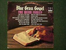 Blue Grass Gospel The Wear Family~Christian Xian Bluegrass~Crown CST-431