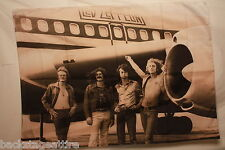 Led Zeppelin B/W Jet Airplane Cloth Fabric Poster Flag Tapestry Wall Banner-NEW