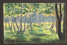 BOIS de BOULOGNE : peinte à la main illustrateur C.C.B.